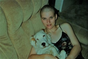 dog with deb during chemo